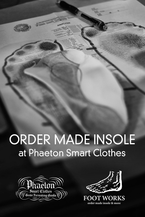 STEMSHOES|FOOTWORKS オーダーメイドインソール at PHAETON SMART CLOTHES