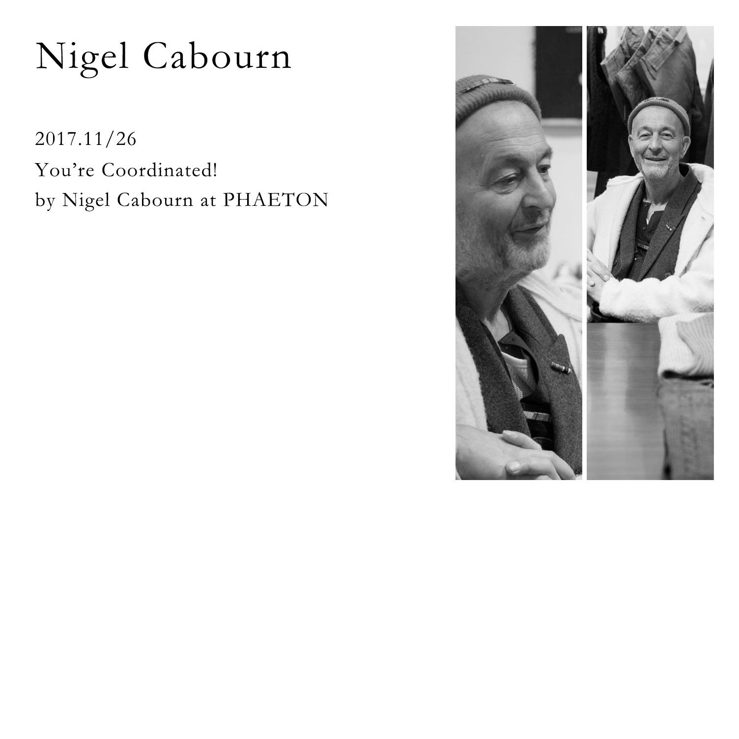 15e5a1013695 Nigel Cabourn. 2017年11月26日、ナイジェルケーボン氏の来店イベントをPHAETONにて開催しました。当日は通常営業の中、ナイジェル氏(デザイナー本人)がお客様一人  ...