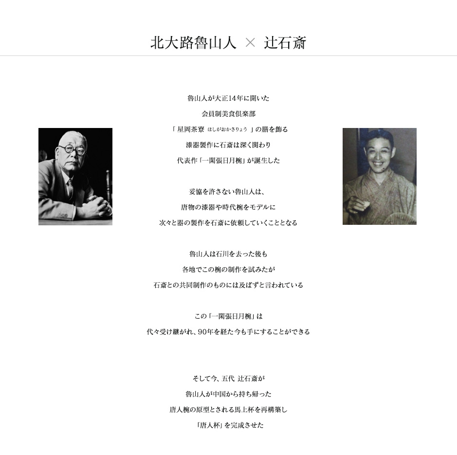 北大路魯山人×辻石斎 一閑張日月椀/唐人杯