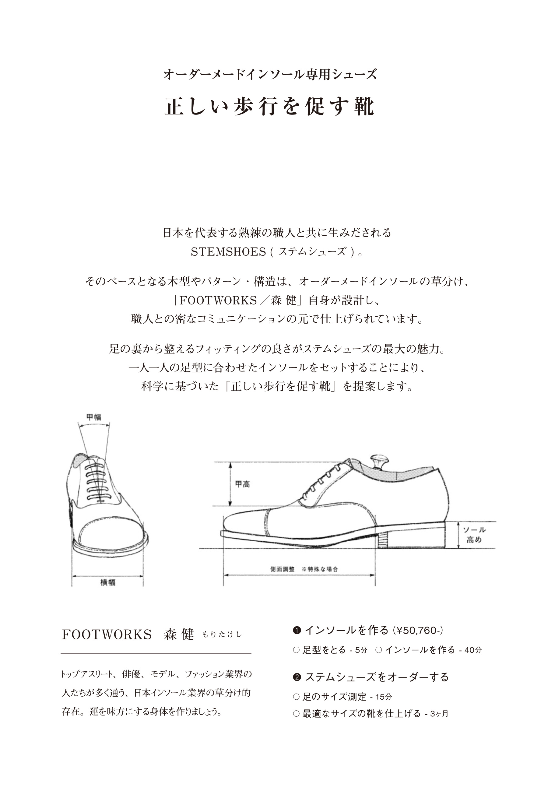 PHAETON|ORDER MADE INSOLE vol.11|FOOTWORKS|森 健