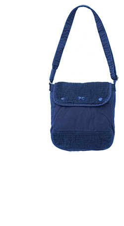 Porter Classic - SASHIKO LIGHT SHOULDER BAG S - NEW BLUE