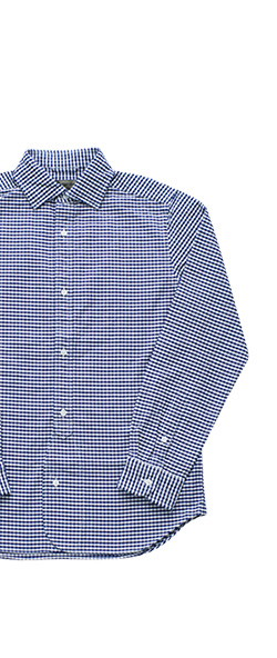 Nigel Cabourn - BRITISH OFFICERS SHIRT - GINGHAM NAVY