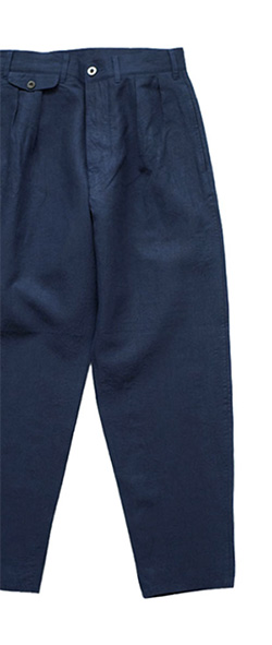 Nigel Cabourn - GENTLEMAN PANT HIGH DENSITY LINEN - NAVY