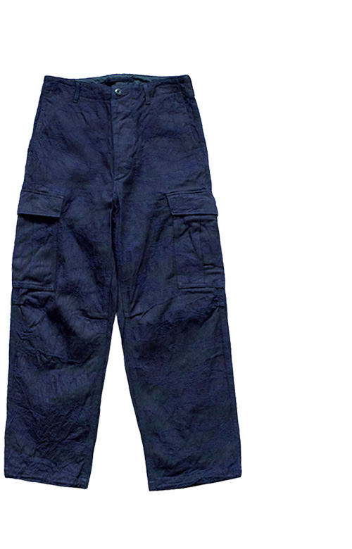 Nigel Cabourn - JUNGLE FATIGUE TROUSER TIGERSTRIPE - INDIGO