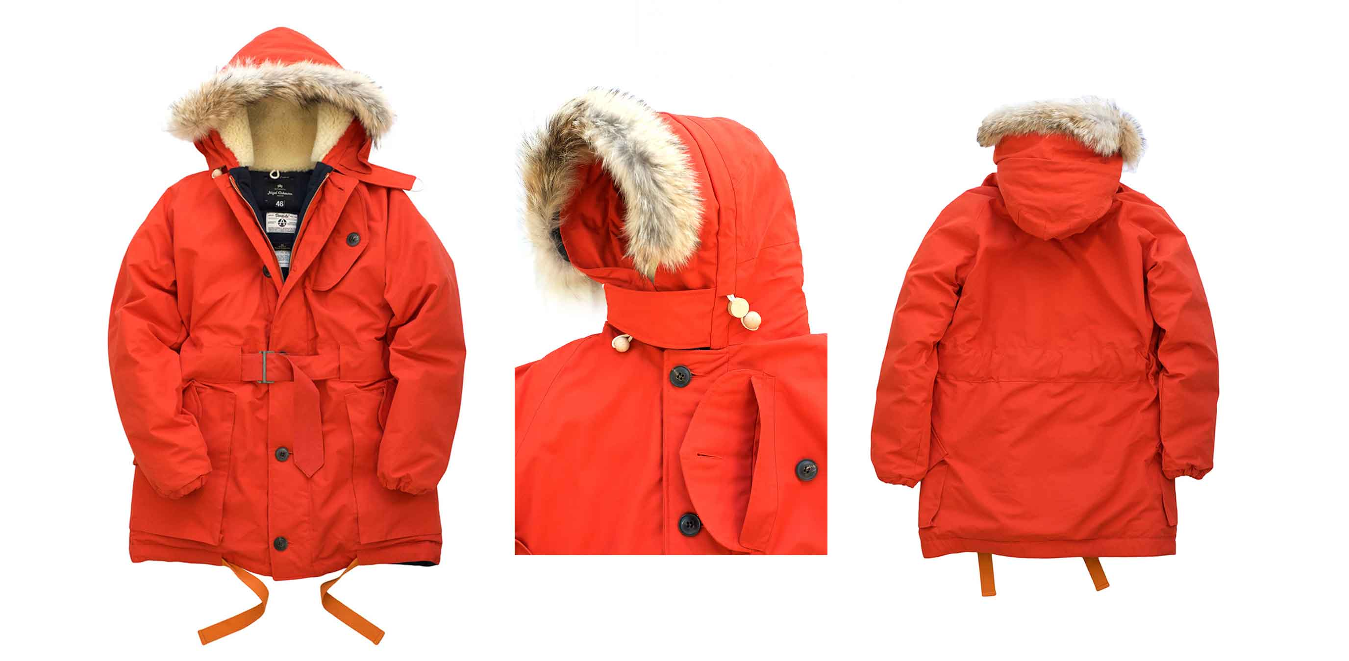 Nigel Cabourn - ANTARCTIC PARKA - VINTAGE ORANGE