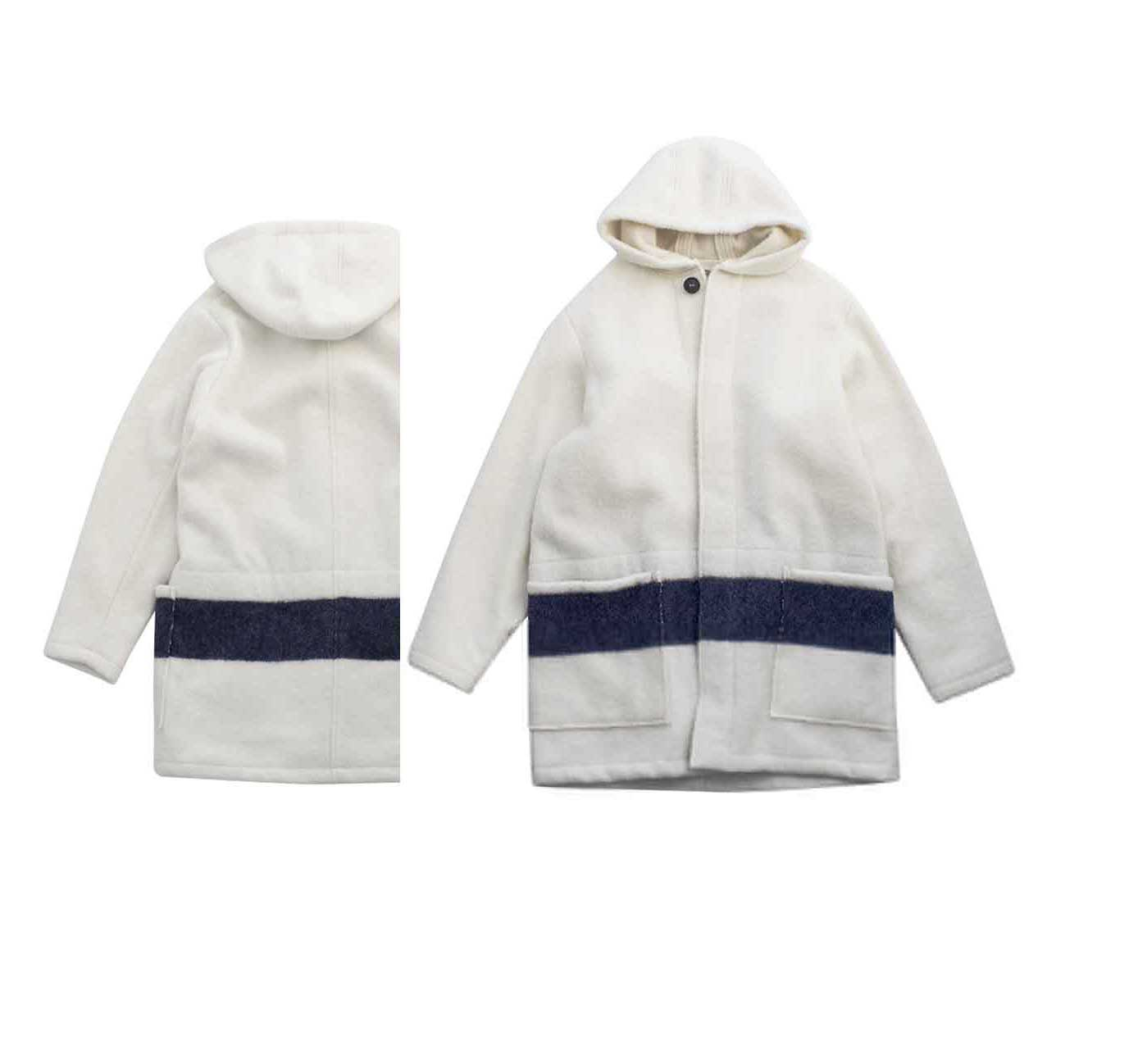 Nigel Cabourn - BLANKET JACKET - WHITE×NAVY