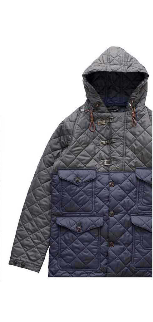 Nigel Cabourn × LAVENHAM - QUILTED CAMERAMAN JACKET - CHACOAL