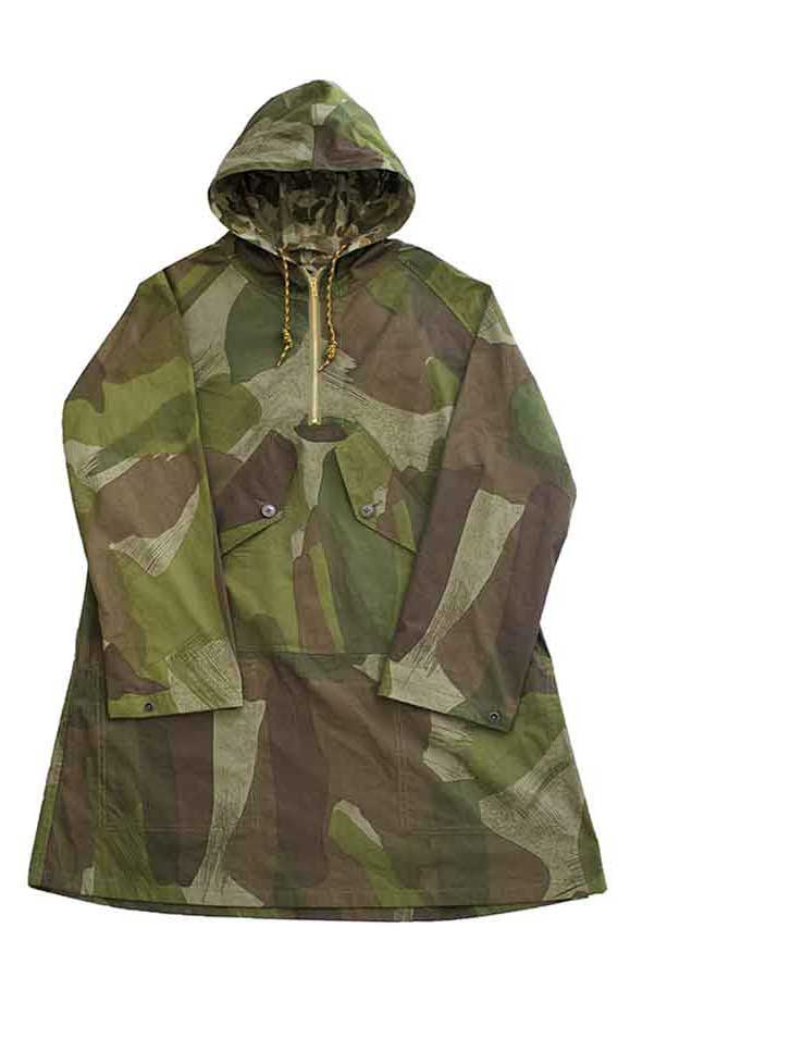 Nigel Cabourn - POH HOODED COAT - CWC WW2 CAMO - OLIVE