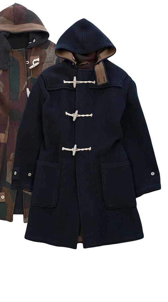 Nigel Cabourn - MONTGOMERY COAT (REVERSIBLE) - DARK NAVYNigel Cabourn - MONTGOMERY COAT (REVERSIBLE) - DARK NAVY
