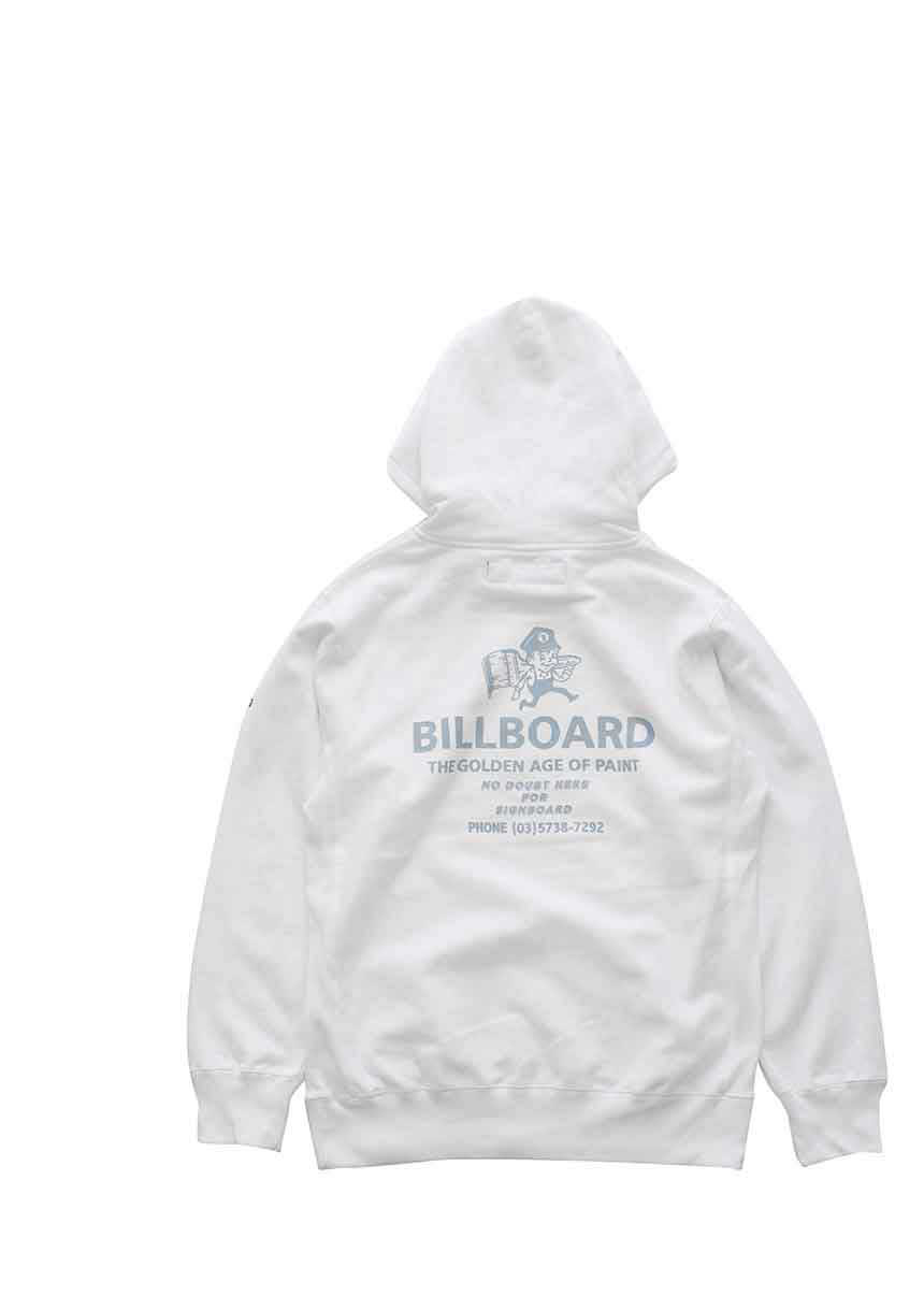 "BILLBOARD - HOODED SWEAT""PAINT BOY"" - WHITE"