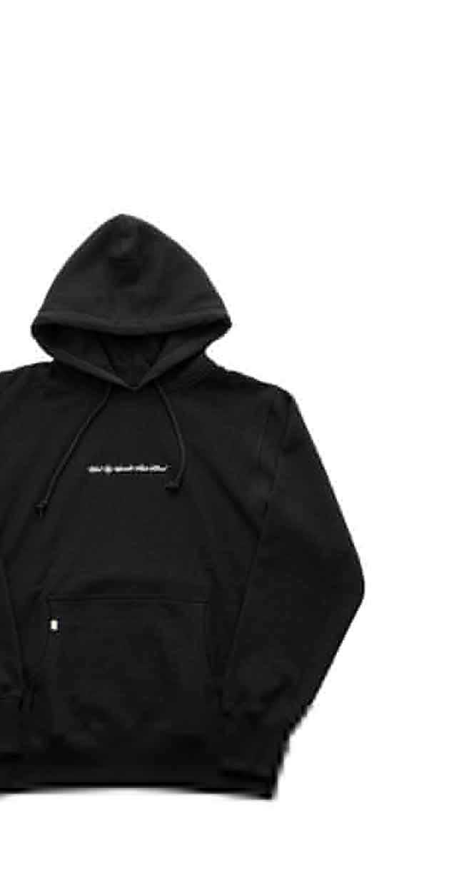 "BILLBOARD - HOODED SWEAT ""BLACK EYE SPECIALIST MADE NATURAL"" -BLACK"