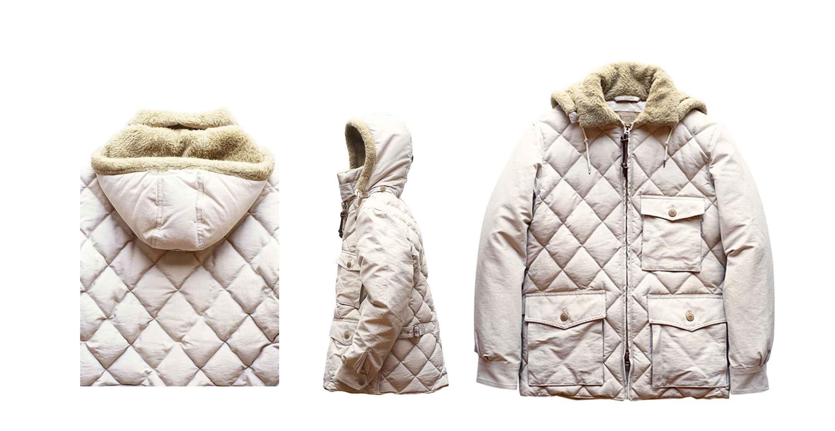 OLD JOE ★★★ EXCLUSIVE - QUILTING OUTDOOR JACKET - FADE ECRU