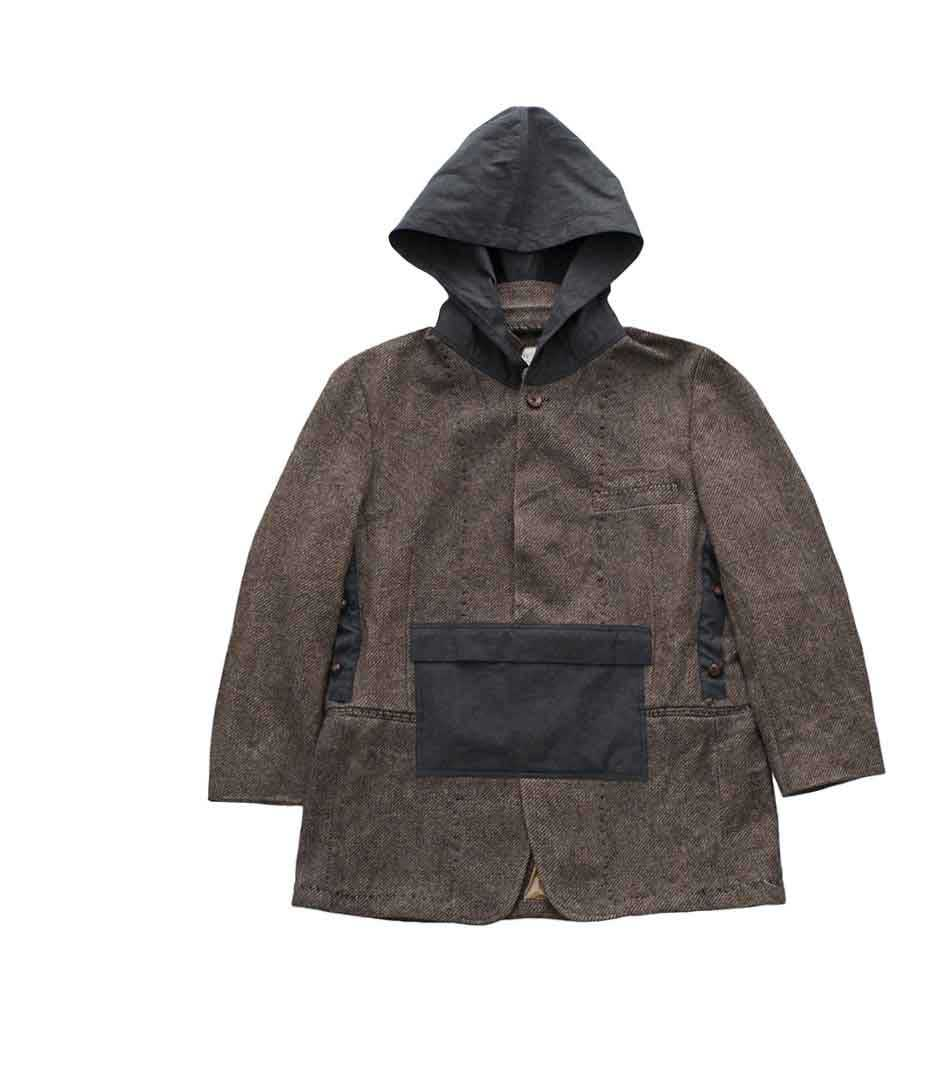 Porter Classic - HAND WORK ANORAK JACKET - BROWN - 2