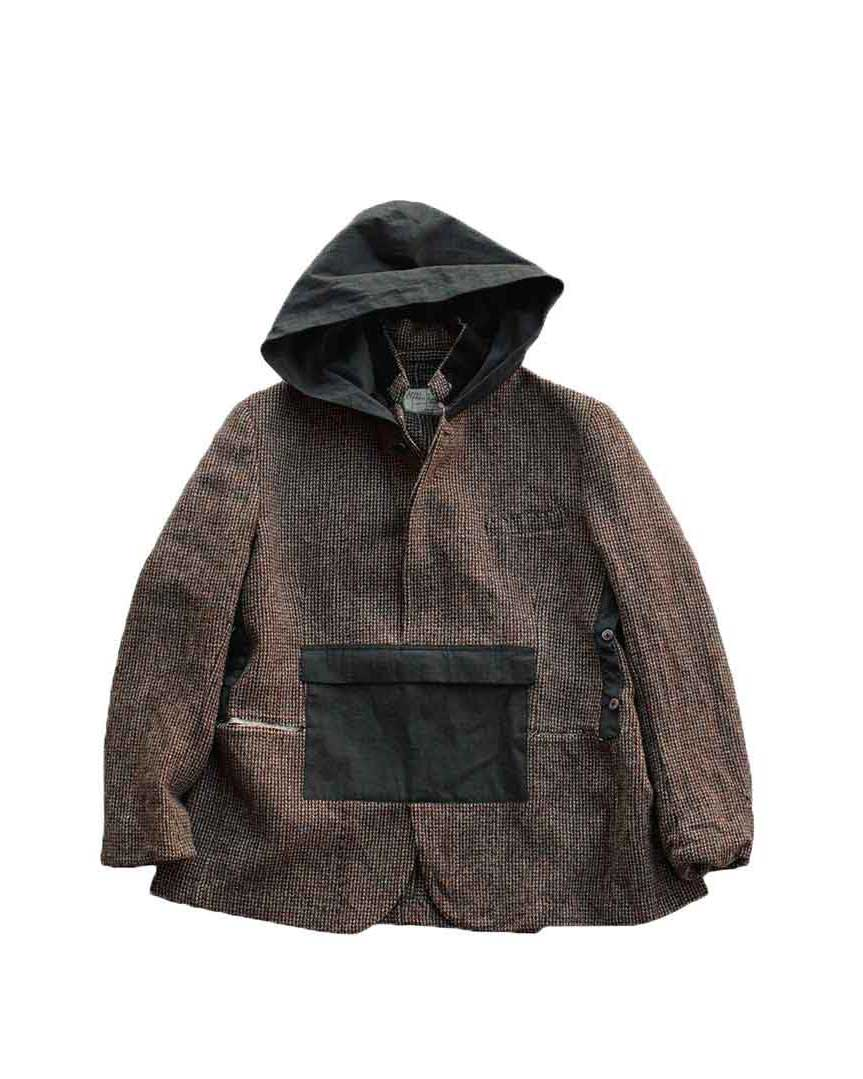 Porter Classic - HAND WORK ANORAK JACKET - BROWN - 3