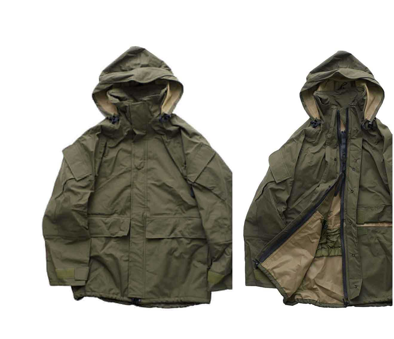 1990 DEAD STOCK US ARMY EXTENDED COLD WEATHER SYSTEM PARKA OLIVE 1