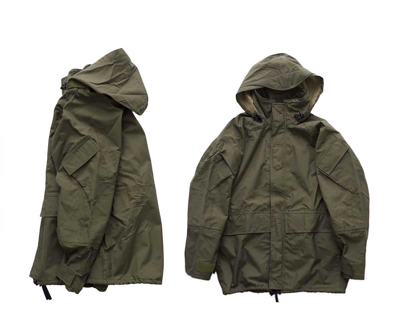 1990 DEAD STOCK US ARMY EXTENDED COLD WEATHER SYSTEM PARKA OLIVE 2
