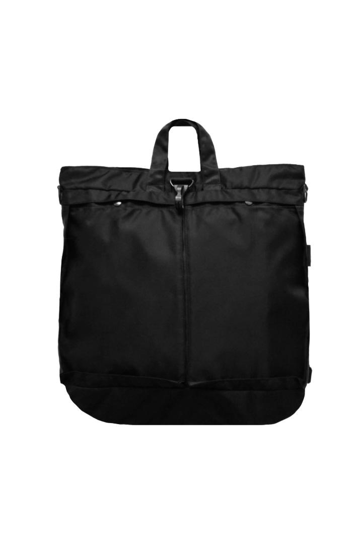 bagjack - 3WAY HELMET BAG - PUC NYLON - BLACK