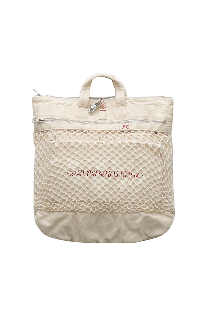 Porter Classic - CANVAS NET HELMET BAG M - WHITE