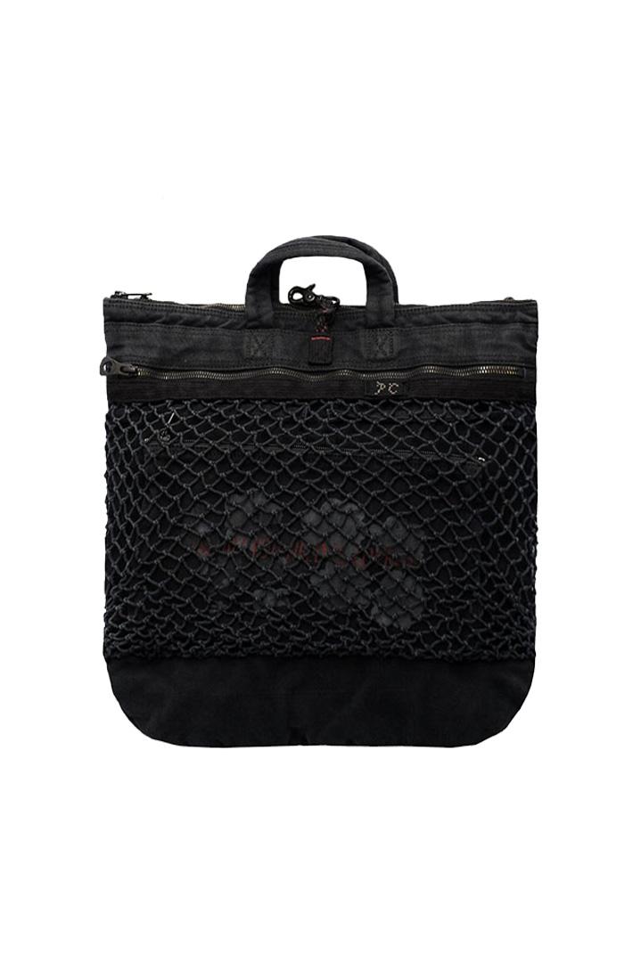 Porter Classic - CANVAS NET HELMET BAG M - BLACK