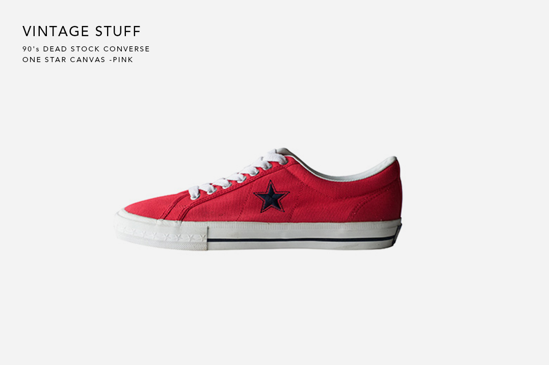90's DEAD STOCK CONVERSE ONE STAR CANVAS -PINK