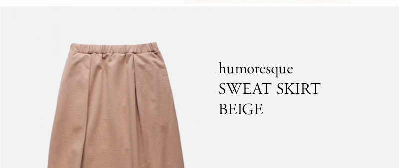 humoresque  SWEAT SKIRT  BEIGE