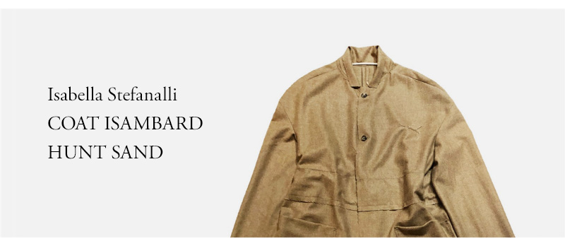 Isabella Stefanalli  COAT ISAMBARD  HUNT SAND