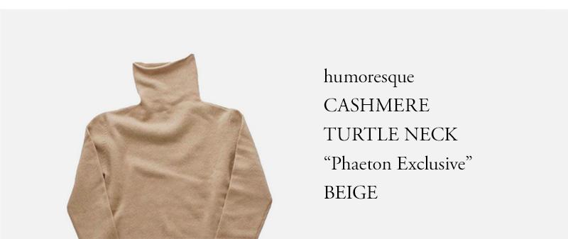 """humoresque  CASHMERE  TURTLE NECK  """"Phaeton Exclusive"""" BEIGE"""