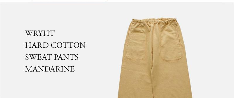 WRYHT  HARD COTTON  SWEAT PANTS MANDARINE