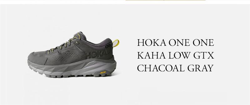 HOKA ONE ONE KAHA LOW GTX  CHACOAL GRAY
