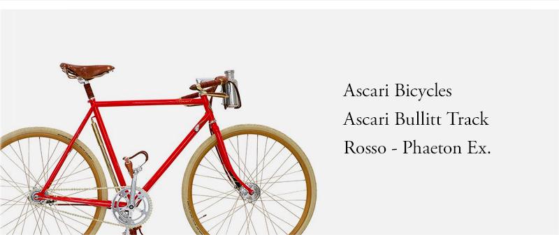 Ascari Bicycles  Ascari Bullitt Track  Rosso - Phaeton Ex.