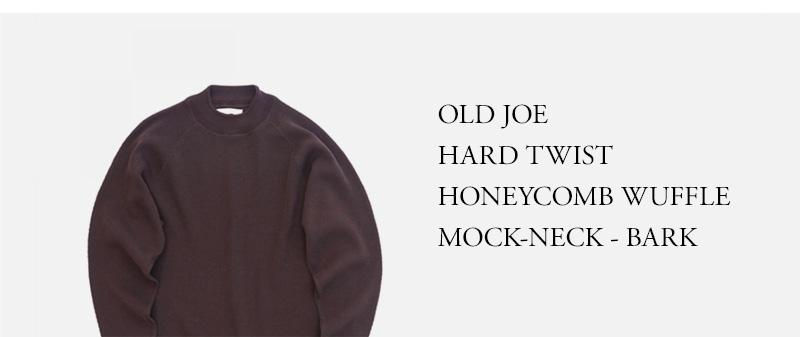 OLD JOE  HARD TWIST  HONEYCOMB WUFFLE  MOCK-NECK - BARK