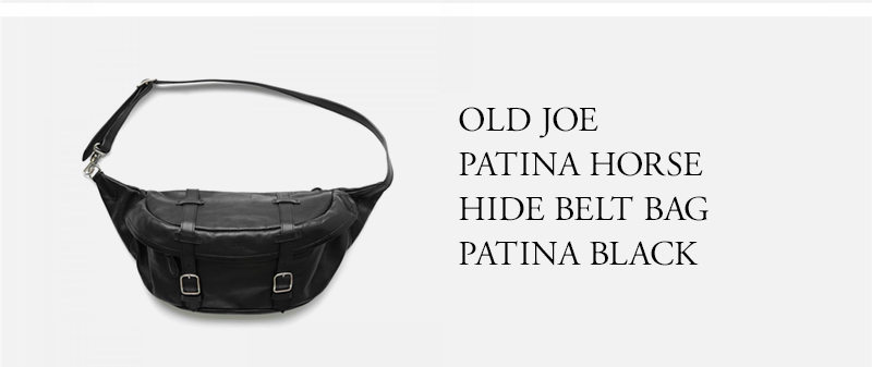 OLD JOE  PATINA HORSE  HIDE BELT BAG  PATINA BLACK