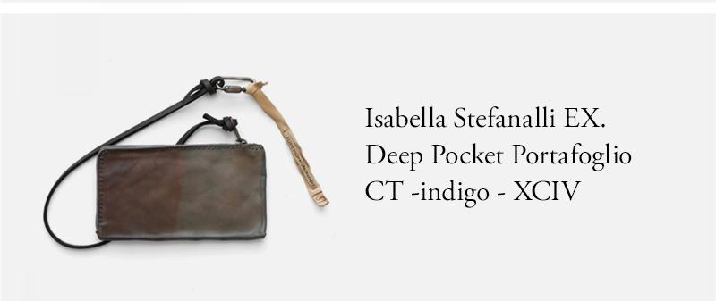 Isabella Stefanalli EX. Deep Pocket Portafoglio CT -indigo - XC