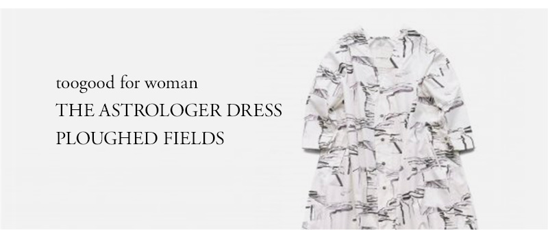 toogood for woman - THE ASTROLOGER DRESS - PLOUGHED FIELDS