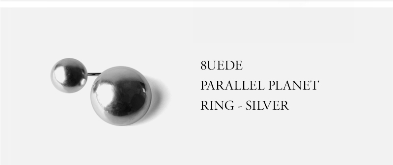 8UEDE PARALLEL PLANET RING - SILVER