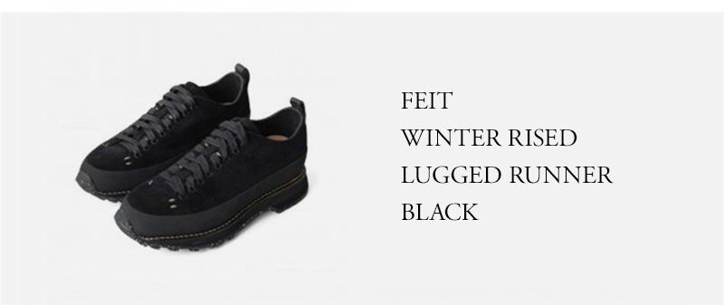 FEIT - WINTER RISED LUGGED RUNNER - BLACK