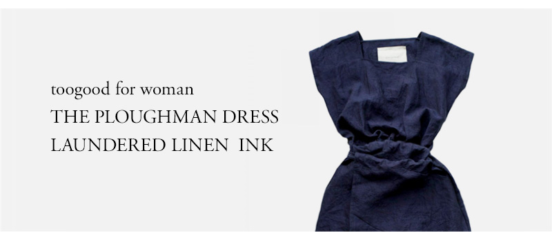 toogood for woman - THE PLOUGHMAN DRESS - LAUNDERED LINEN - INK