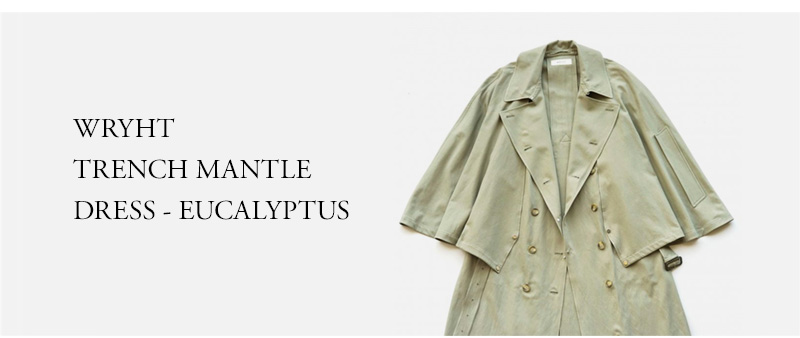 WRYHT - TRENCH MANTLE DRESS - EUCALYPTUS