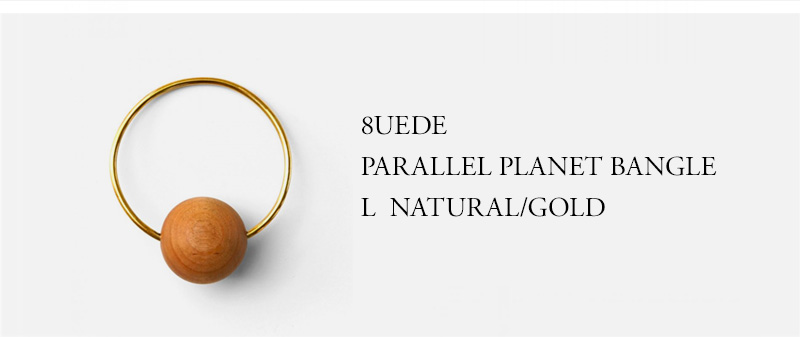 8UEDE - PARALLEL PLANET BANGLE L - NATURAL/GOLD