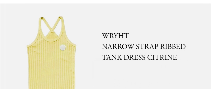 WRYHT- NARROW STRAP RIBBED TANK DRESS - CITRINE
