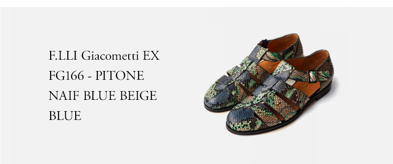 F.LLI Giacometti ★★★ - FG166 - PITONE NAIF BLUE BEIGE - BLUE
