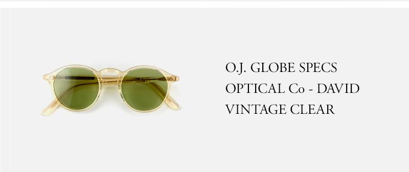OLD JOE - O.J. GLOBE SPECS OPTICAL Co - DAVID - VINTAGE CLEAR