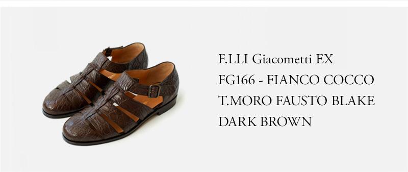 F.LLI Giacometti ★★★ - FG166 - FIANCO COCCO T.MORO FAUSTO BLAKE - DARK BROWN