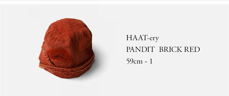 HAAT-ery - PANDIT - BRICK RED - 59cm - 1