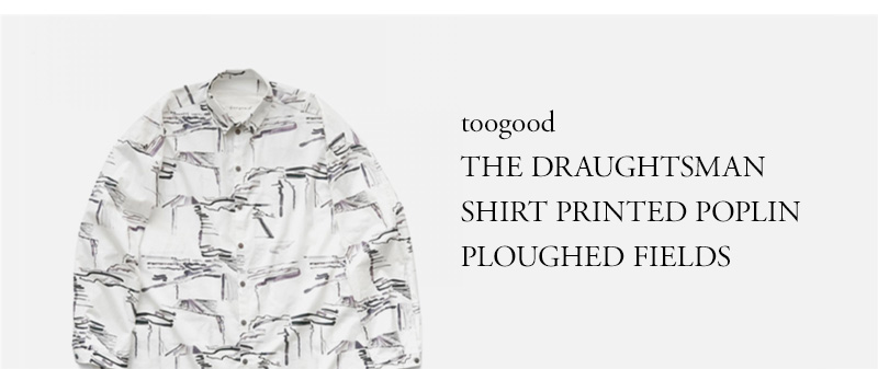 toogood - THE DRAUGHTSMAN SHIRT - PRINTED POPLIN - PLOUGHED FIELDS