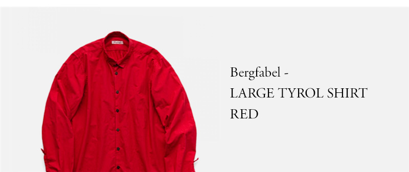 Bergfabel - LARGE TYROL SHIRT - RED