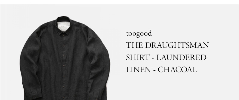 toogood - THE DRAUGHTSMAN SHIRT - LAUNDERED LINEN - CHACOAL