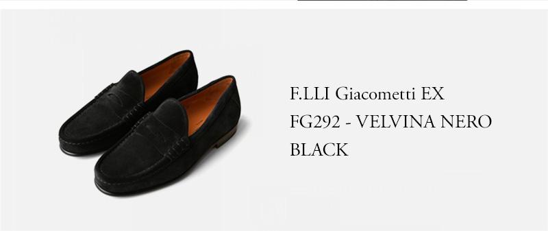 F.LLI Giacometti ★★★ - FG292 - VELVINA NERO - BLACK