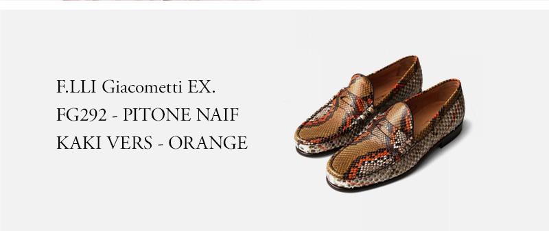 F.LLI Giacometti EX. - FG292 - PITONE NAIF KAKI VERS - ORANGE