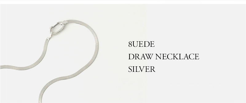 8UEDE - DRAW NECKLACE SILVER